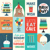 Echo Park Cut-Outs - Happy Birthday - Boy - 3x4 Journaling Cards