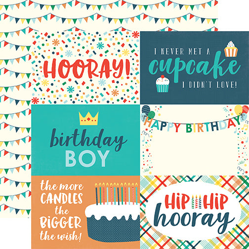 Echo Park Cut-Outs - Happy Birthday - Boy - 4x6 Journaling Cards