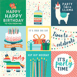 Echo Park Cut-Outs - Happy Birthday - Boy - 4x4 Journaling Cards