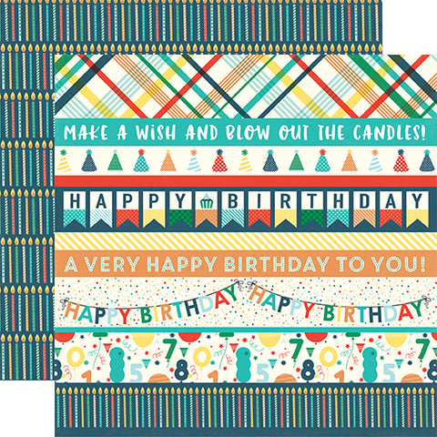 Echo Park Cut-Outs - Happy Birthday - Boy - Border Strips