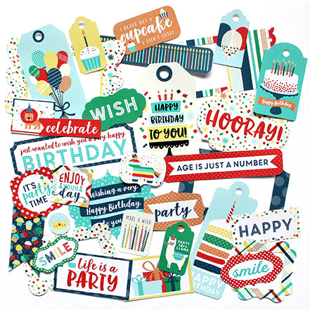 Echo Park Frames & Tags Die-Cuts - Happy Birthday - Boy