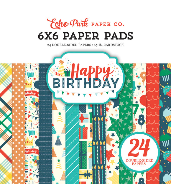 Echo Park 6x6 Pad - Happy Birthday - Boy