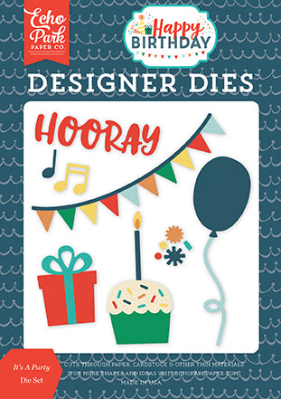 Echo Park Designer Dies - Happy Birthday - Boy - It's a Party Set