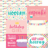 Echo Park Cut-Outs - Happy Birthday - Girl - 4x6 Journaling Cards