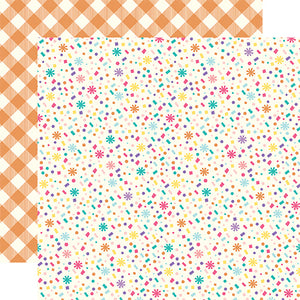 Echo Park Papers - Happy Birthday Girl - Confetti Confection - 2 Sheets
