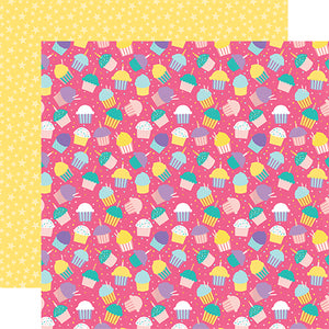 Echo Park Papers - Happy Birthday Girl - Cupcake Party - 2 Sheets