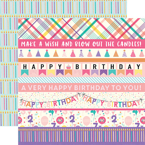 Echo Park Cut-Outs - Happy Birthday - Girl - Border Strips