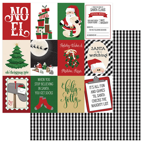 Photo Play Cut-Outs - Here Comes Santa - Holly Jolly