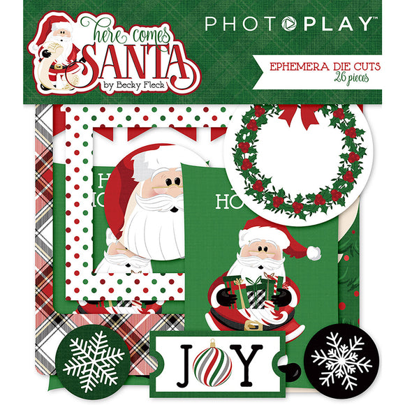 Photo Play Ephemera Die Cuts - Here Comes Santa