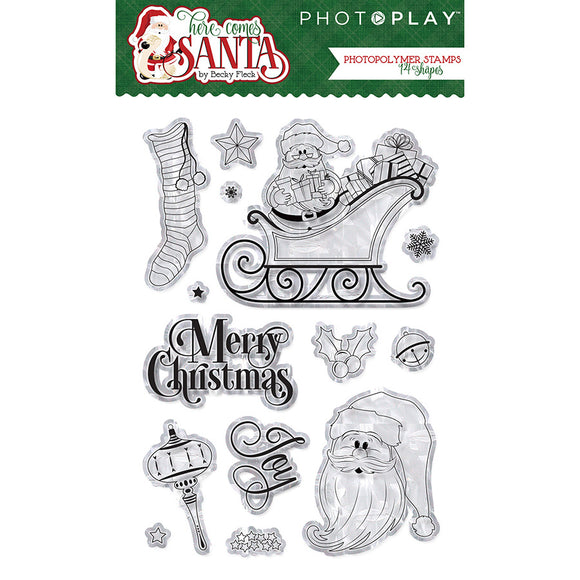 Photo Play Stamp and Die Set - Here Comes Santa