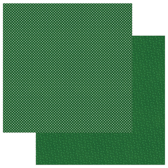 Photo Play Papers - Here Comes Santa - Green - 2 Sheets