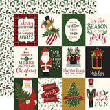 Echo Park Cut-Outs - Here Comes Santa Claus - 3x4 Journaling Cards