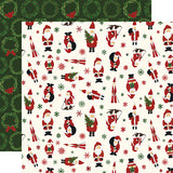 Echo Park Papers - Here Comes Santa Claus - Jingle All the Way - 2 Sheets