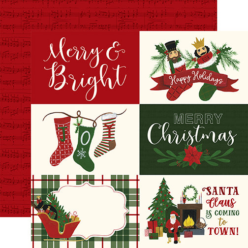 Echo Park Cut-Outs - Here Comes Santa Claus - 6x4 Horizontal Journaling Cards