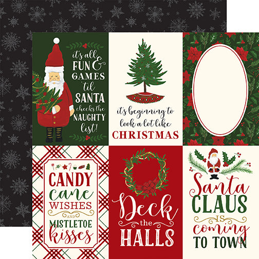 Echo Park Cut-Outs - Here Comes Santa Claus - 4x6 Vertical Journaling Cards