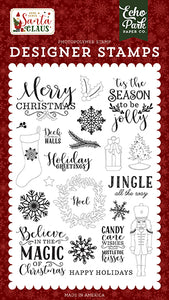 Echo Park Clear Stamp Set - Here Comes Santa Claus - Magic of Christmas