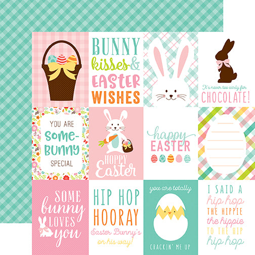 Echo Park Cut-Outs - Hello Easter - 3x4 Jouraling Cards
