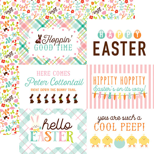 Echo Park Cut-Outs - Hello Easter - 4x6 Jouraling Cards