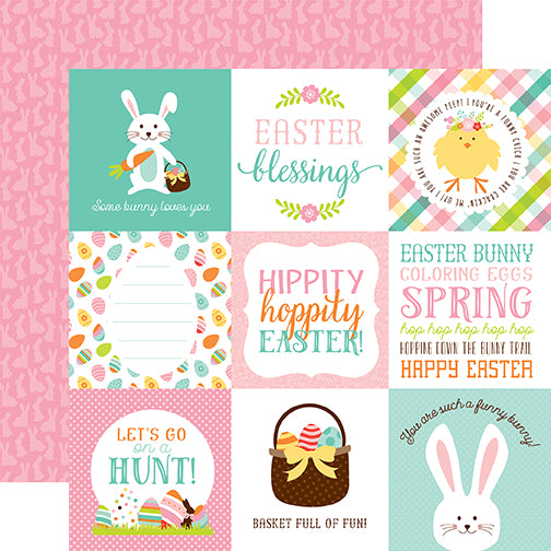 Echo Park Cut-Outs - Hello Easter - 4x4 Jouraling Cards
