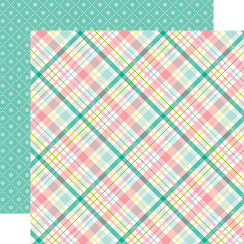 Echo Park Papers - Hello Easter - Spring Plaid - 2 Sheets