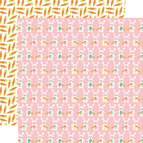 Echo Park Papers - Hello Easter - Hippity Hoppity - 2 Sheets