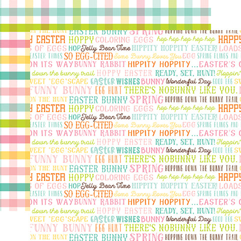 Echo Park Papers - Hello Easter - Easter Words - 2 Sheets