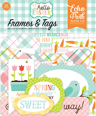 Echo Park Frames & Tags Die-Cuts - Hello Easter