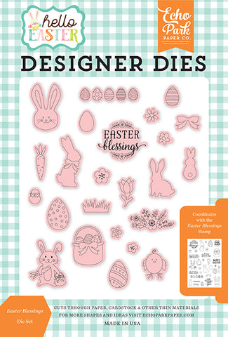 Echo Park Stamp and Die Set - Hello Easter