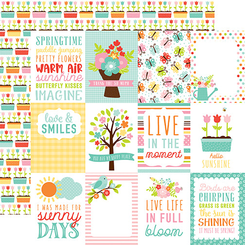 Echo Park Cut-Outs - Hello Spring - 3x4 Journaling Cards