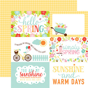 Echo Park Cut-Outs - Hello Spring - 4x6 Journaling Cards