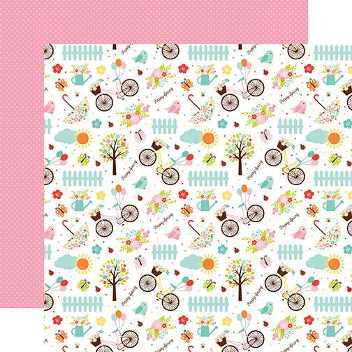 Echo Park Papers - Hello Spring - Happy Spring - 2 Sheets