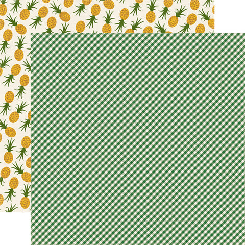 Echo Park Papers - Homegrown - Green Gingham - 2 Sheets