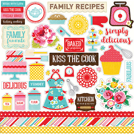 Echo Park 12x12 Cardstock Stickers - Happiness Is Homemade - Elements