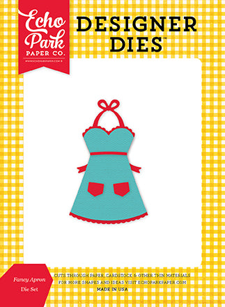 Echo Park Designer Dies - Happiness Is Homemade - Fancy Apron Set