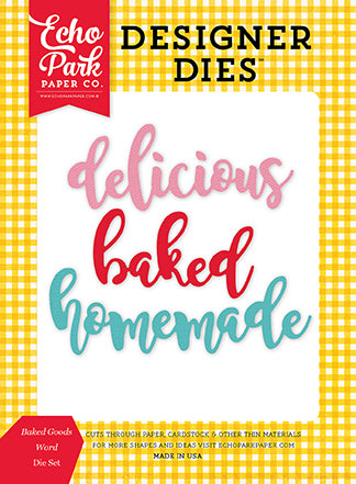 Echo Park Designer Dies - Happiness Is Homemade - Baked Goods Word Set