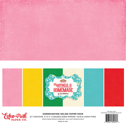 Echo Park Solids Paper Pack - Happiness Is Homemade