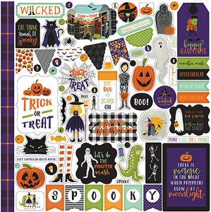 Echo Park 12x12 Cardstock Stickers - Hocus Pocus - Elements