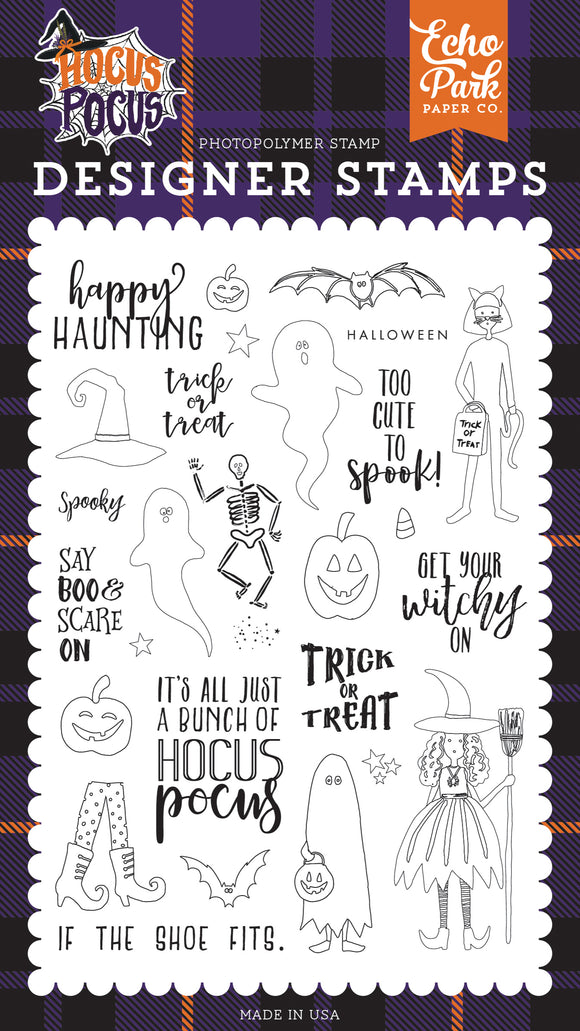 Echo Park Clear Stamp Set - Hocus Pocus - Happy Haunting