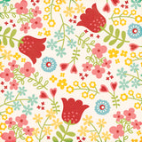 Echo Park Papers - Happy Summer - Happy Flowers - 2 Sheets