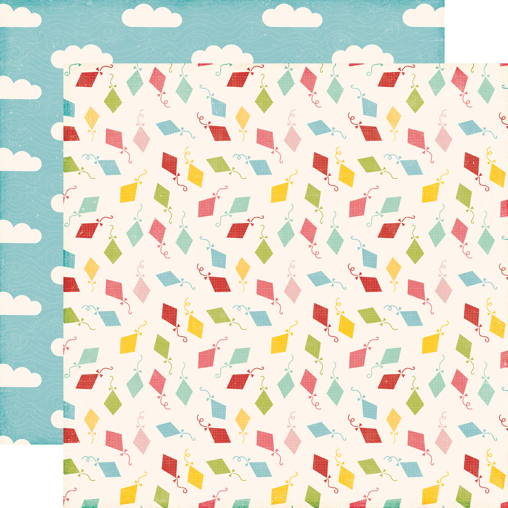 Echo Park Papers - Happy Summer - Carefree Kites - 2 Sheets