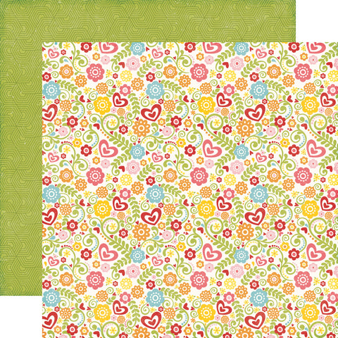 Echo Park Papers - Happy Summer - Summer Blossoms - 2 Sheets