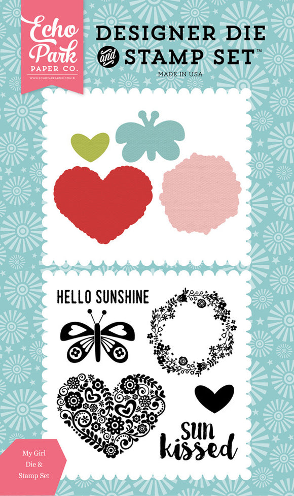 Echo Park Stamp and Die Set - Happy Summer - Sun Kissed