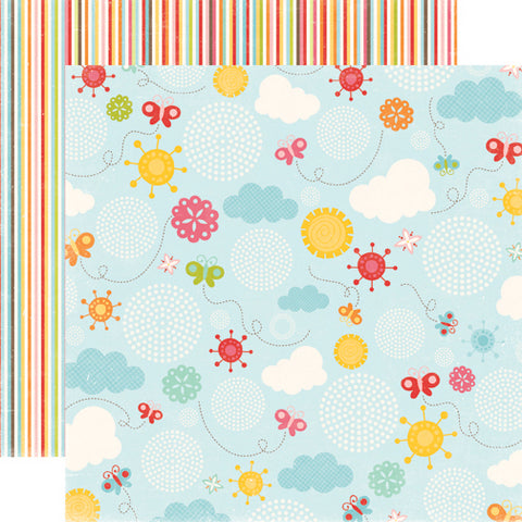 Echo Park Papers - Hello Summer - Butterfly Sky - 2 Sheets