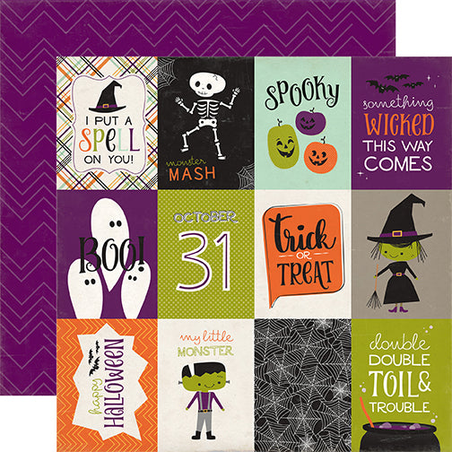Echo Park Cut-Outs - Halloween Town - 3x4 Journaling Cards