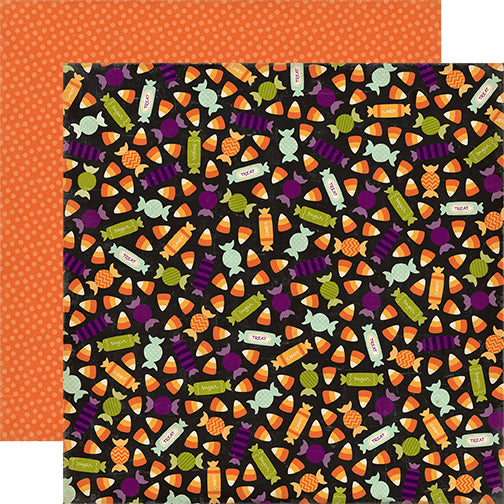 Echo Park Papers - Halloween Town - Candy Fun - 2 Sheets
