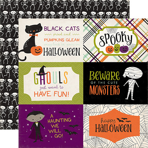 Echo Park Cut-Outs - Halloween Town - 4x6 Journaling Cards