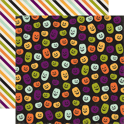 Echo Park Papers - Halloween Town - Perfect Pumpkins - 2 Sheets