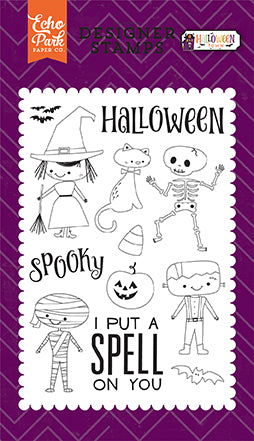Echo Park Clear Stamp Set - Halloween Town - Halloween Costumes
