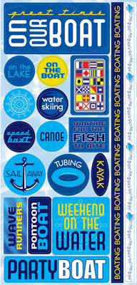 Reminisce Stickers - H2O - On Our Boat