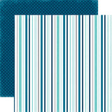 Echo Park Papers - Hello Winter - Chilled Stripes - 2 Sheets